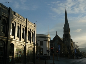 Knox Church and The Bog Pub, Dunedin