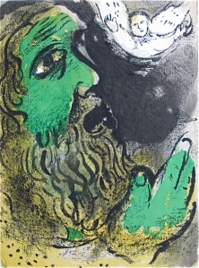 "Marc Chagall's ""Job Prays"""