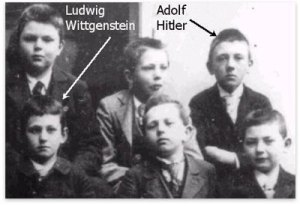A school photo of Wittgenstein & Hitler - according to the adventurous theory of Kimberley Cornish, a member of the Babs Thiering Down Under School of Hermetic Historiography