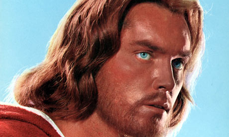 "Jeffrey Hunter plays a not very Jewish Jesus in ""King of Kings"""