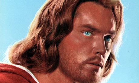 "Jeffrey Hunter plays a not very Jewish Jesus in ""King of Kings"""