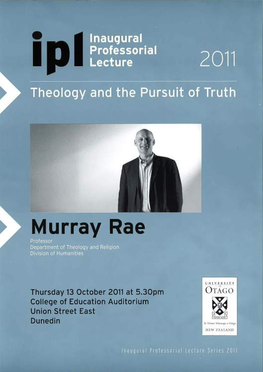 Murray Rae: Theology and the Pursuit of Truth