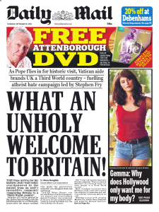 What An Unholy Welcome to Britain!